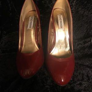Red Steve Madden heels size 8
